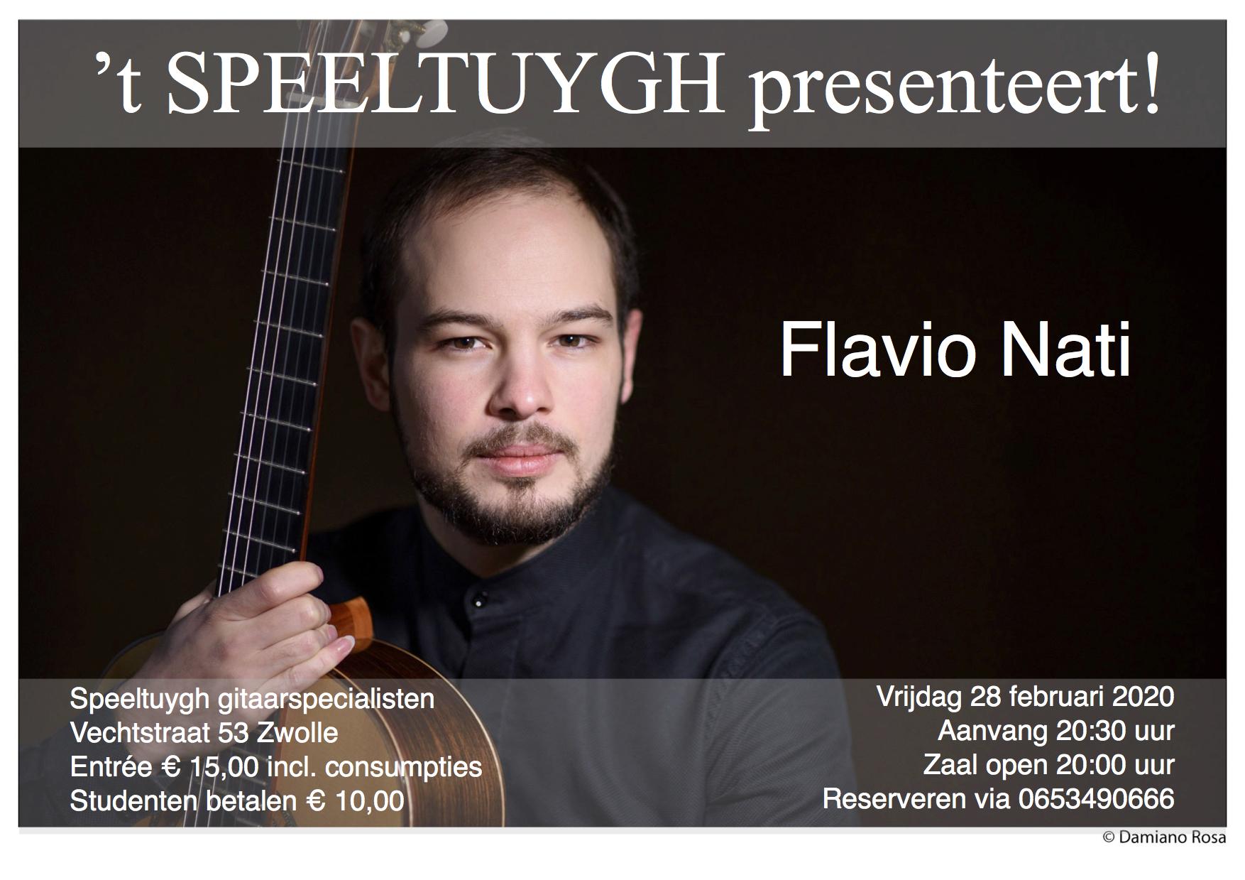 't Speeltuygh presenteert: Flavio Nati